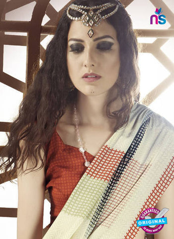 LT 1004 Beige Casual Saree
