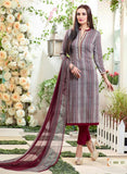 Sahiba MN 01 Blue & Maroon Color Cotton Designer Suit