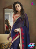 NS11115 Blue and Red Georgette Designer Saree