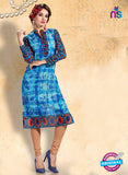 NS10915 Blue Color Cotton Designer Kurti