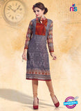 NS10918 Grey Color Cotton Designer Kurti