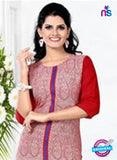 NS11768  Red and White Ryon Kurti online