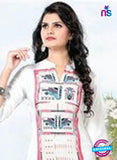 NS11770 White and Pink Ryon Kurti