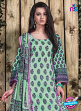SC 12703 Green and Pink Lawn Straight Suit