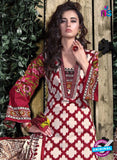 SC 12706 Red and Beige Lawn Straight Suit Online