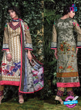 SC 12704 Brown and Multicolour Original Lawn Straight Suit