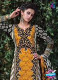 SC 12705 Yellow and Black Original Lawn Straight Suit Online