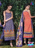 SC 12708 Blue and Orange Lawn Straight Suit