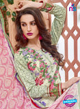 SCESZ 13834 Green Cotton Satin Designer Fancy Exclusive Straight Suit