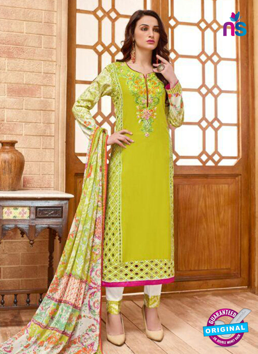 SC 13826 Green Cotton Satin Designer Fancy Exclusive Straight Suit