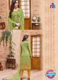SCESZ 13828 Green Cotton Satin Designer Fancy Exclusive Straight Suit