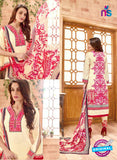 SCESZ 13829 Beige Cotton Satin Designer Fancy Exclusive Straight Suit