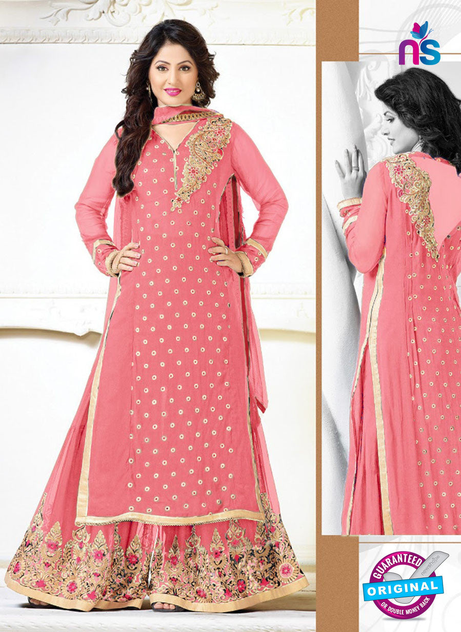SC 12565 Pink Embroidered Georgette Party Wear Designer Plazo Suit