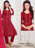 NS11387  Red Color Pashmina Salwar Suit