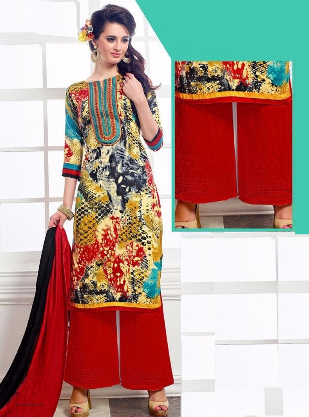NS11393 A Multicolor Pashmina Salwar Suit