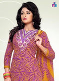 Yellow and PurpleCotton Dress Material Online