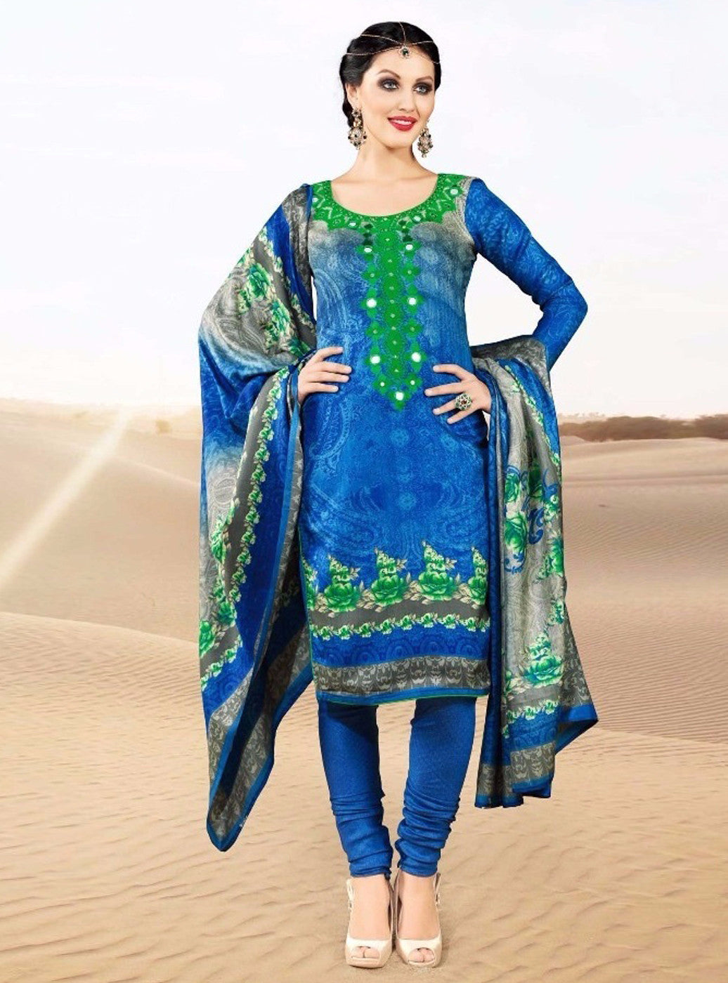 Rakhi 5716 B Blue Color Pashmina Salwar Suit