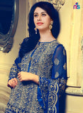NS11427 Blue Georgette Party Wear Georgette Pakistani Suit Online