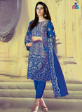 NS11427 Blue Georgette Party Wear Georgette Pakistani Suit