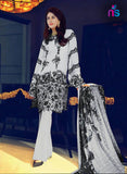 NS11428 Grey and Black Party Wear Georgette Pakistani Suit