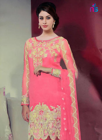 NS11429 Pink and Beige Party Wear Georgette Pakistani Suit Online