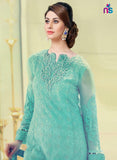 NS11430 Sea Green Party Wear Georgette Pakistani Suit