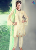 NS11431 Beige Party Wear Georgette Pakistani Suit