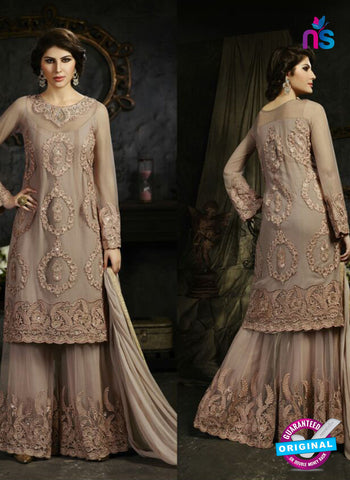 Sybella S-12 Beige Color Embroidered Net Pakistani Suit