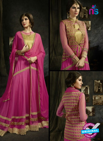 Sybella S-15 Pink Color Embroidered Net Anarkali Suit