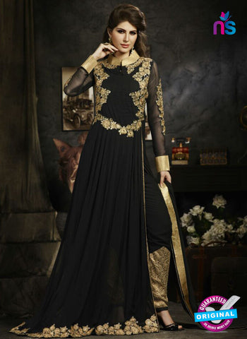 Sybella S-17 Black Color Embroidered Georgette Party Wear Suit
