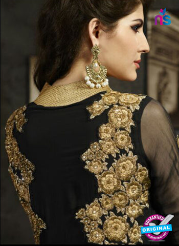 Sybella S-17 Black Color Embroidered Georgette Party Wear Suit Online