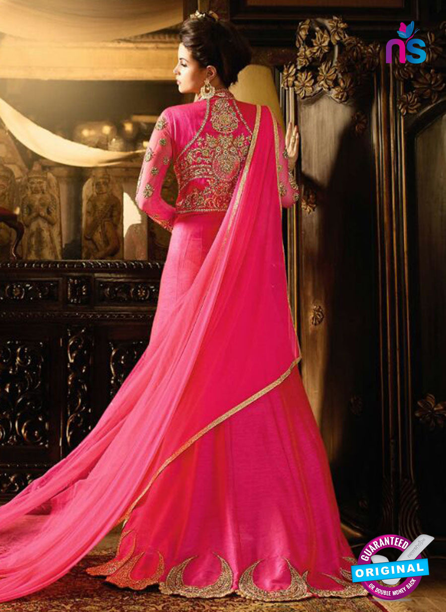 AZ 3856 Magenta Silk Party Wear Suit