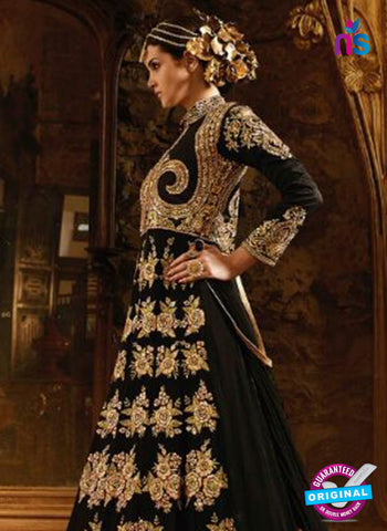 AZ 3859 Black Banglori Silk Anarkali Suit