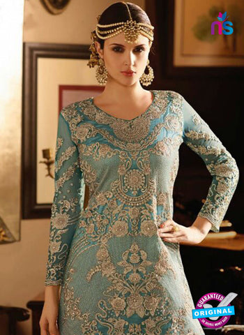 AZ 3861 Sky Blue Net Party Wear Suit Online