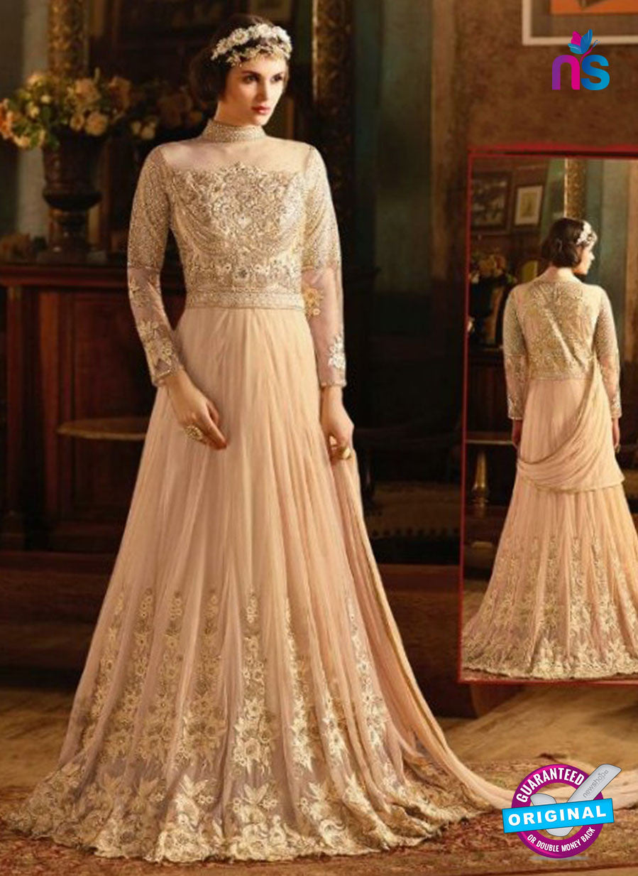 AZ 3862 Peach Net Anarkali Suit
