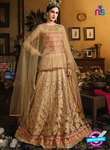 Vibrant S-71 Golden Indo Western Suit