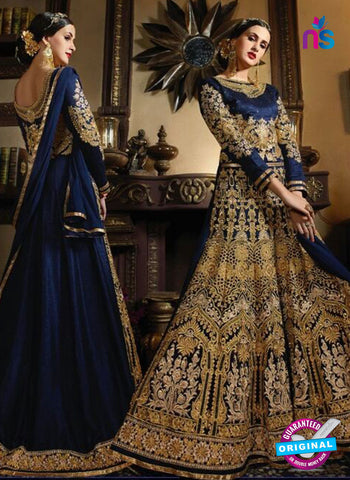 Vibrant S-78 Blue Anarkali Suit