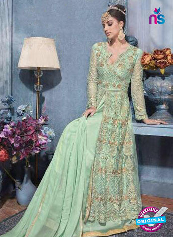 Sybella S-82 Sea Green Indo Western Suit
