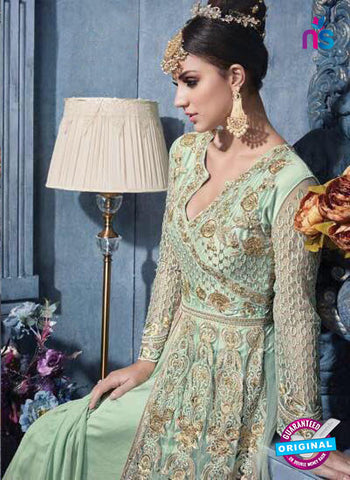 AZ 6201 Sea Green Indo Western Suit