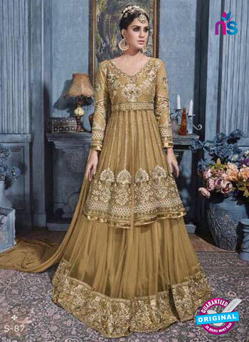 Sybella S-87 Golden Indo Western Suit