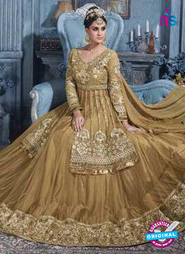 AZ 6207 Golden Indo Western Suit