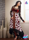 SP 1093 - White and Maroon Color Georgette Anarkali Suit