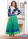 SP 1096 Blue and Green Color Georgette Anarkali Suit