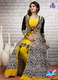 SP 2000  Yellow and Purple Color Georgette Anarkali Suit