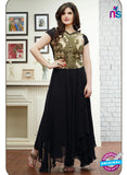 SP 2001 - Black and Beige Color Georgette Anarkali Suit
