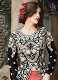 NS11445 Black and HotPink Georgette or Net Designer Gawn