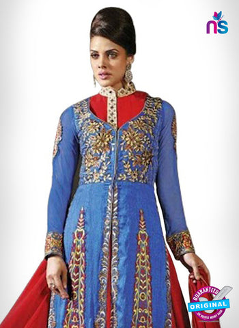 SC 14328 Blue Bhagalpuri Silk Jacquard Party Wear Suit
