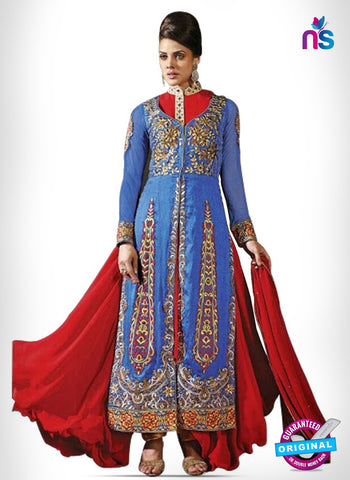 Kesari Trendz 8001 Blue Bhagalpuri Silk Jacquard Party Wear Suit