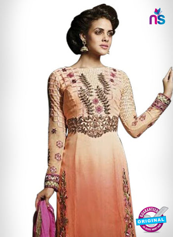 SC 14333 Peach Georgette Party Wear Suit