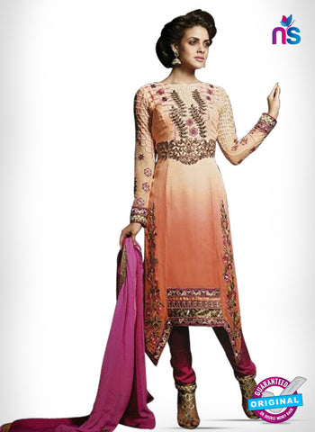 Kesari Trendz 8007 Peach Georgette Party Wear Suit